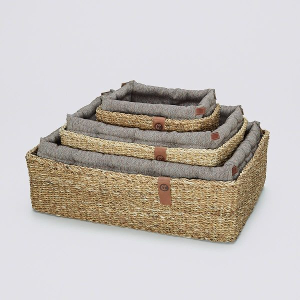 Cloud7-Dog-Bed-Hideaway-Herringbone-Brown-SML-Angle
